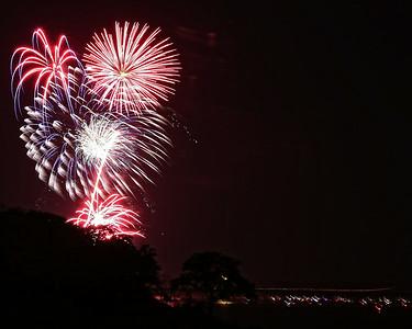 Lake Texoma Fireworks 2014