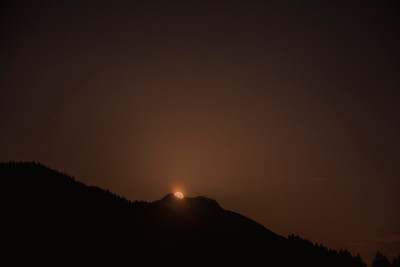 Moon Rising over Mt Teneriffe