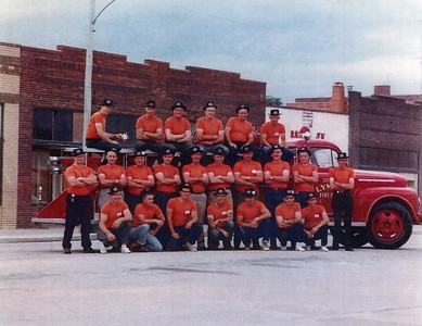 Bob Bode - Middle Row, 3rd from right. Lyman, Nebraska FD Relative of Heidi Simon
