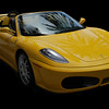 Yellow Ferrari Sports Car(