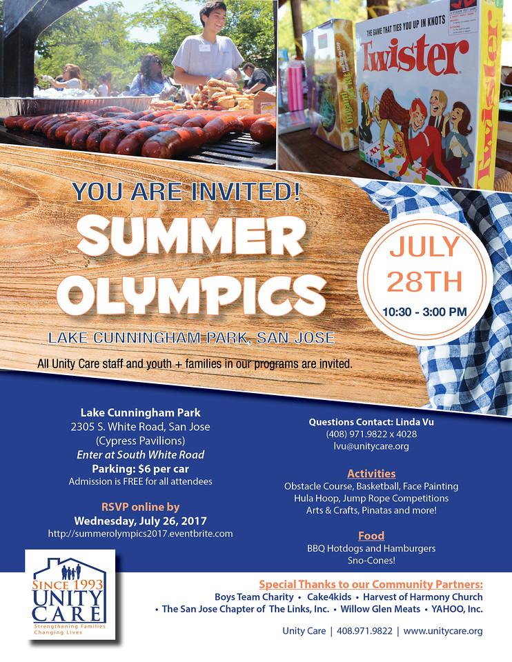 2017 Summer Olympics flyer