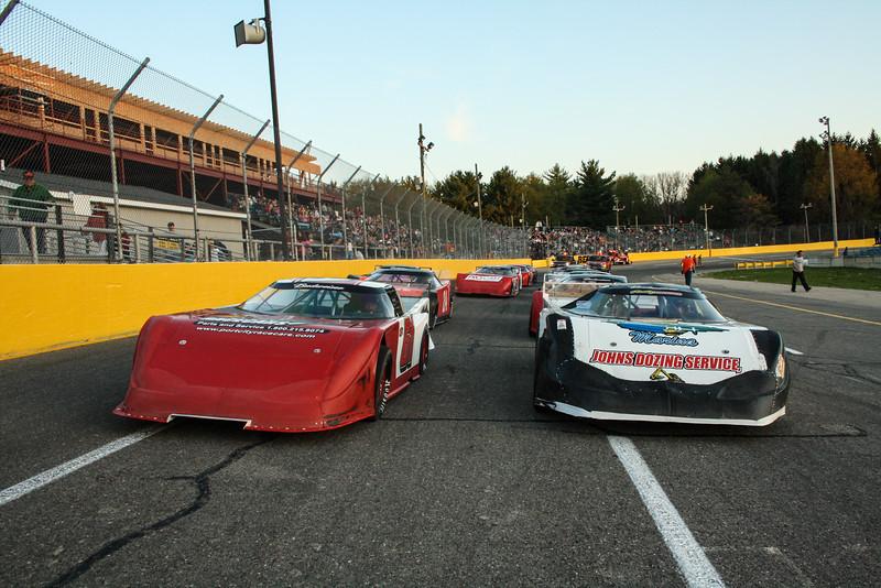Race cars at Berlin Raceway