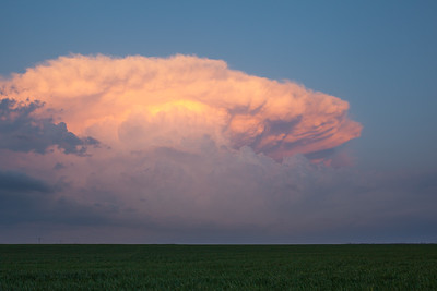 Oklahoma Supercell At Sunset
