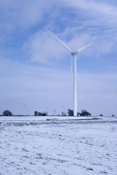 Kansas Wind Power In Winter