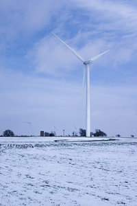 Kansas Wind Power In Winter