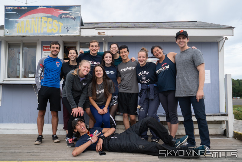 """The UConn-only A-license picture. <br><span class=""""skyfilename"""" style=""""font-size:14px"""">2018-09-22_skydive_cpi_0382</span>"""