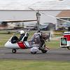 Gyro rolls down the runway.