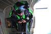 Ron prepares for a wingsuit exit. 7/24/11