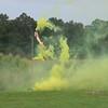 Video of smoke behind the corn.