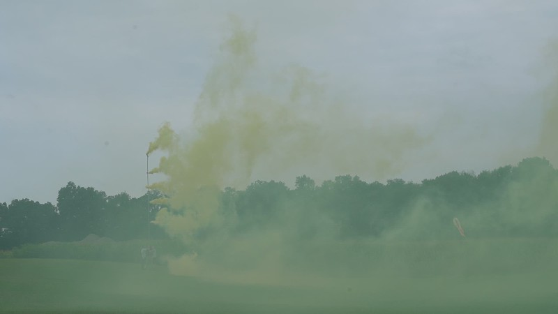 Video of the smoke from the tall pole.