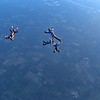 Video of the 7-way mystery dive with Jeff orbiting in a wingsuit.