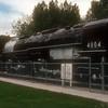 Big Boy #4004 in Holliday Park, Cheyenne, WY, 9-16-84.
