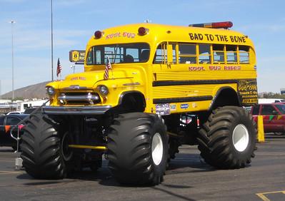 Monster School Bus 1956 Chevy
