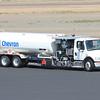Chevron DV Fuel Truck Freightliner tandem rear