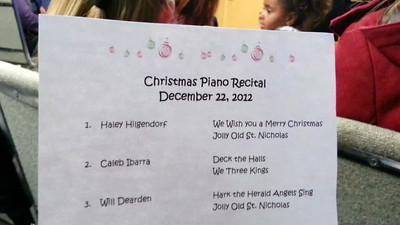 Haley's Recital Dec 2012