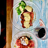 Grilled picanha w/hollandaise and burrrata tomato avocado salad