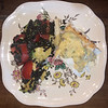 grilled halibut wiht hollandaise and French lentils with tomatoes and avocados