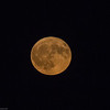 October moon from the back deck