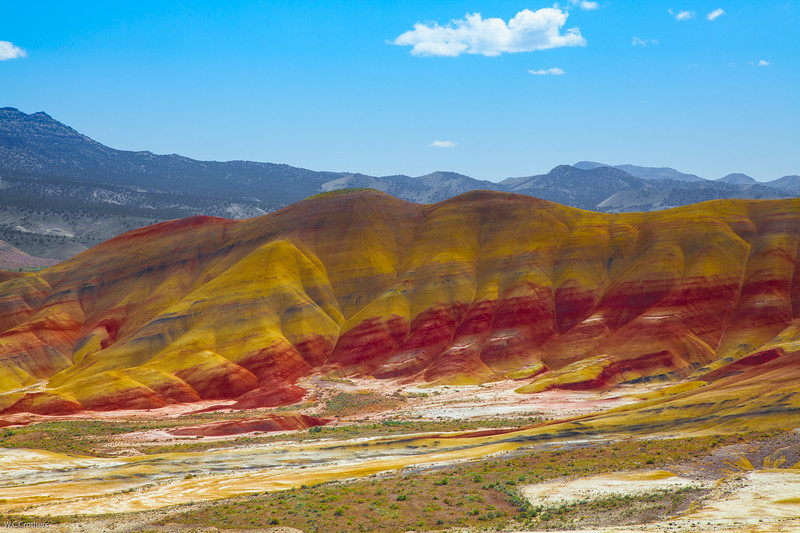 the Painted Hills, near Mitchell, Oregon