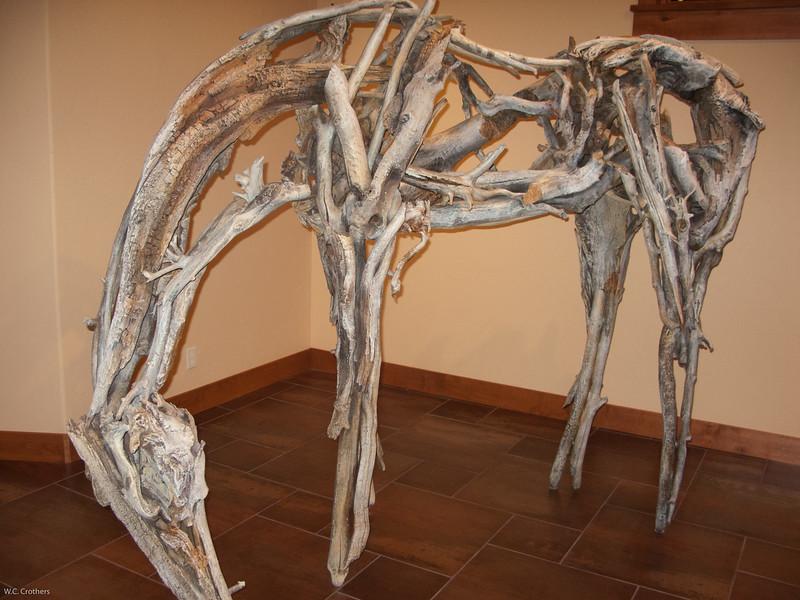 Tim and Karen's beautiful bronze horse.