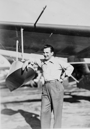 Dad by plane - circa 1946