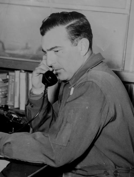 Dad on phone circa 1945