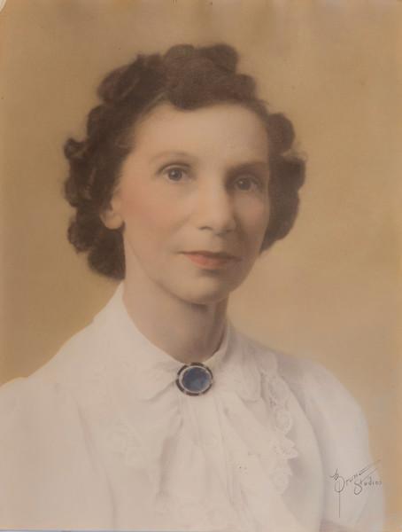My moms mom Vivian Humphries circa 1940. Hand tint by mom