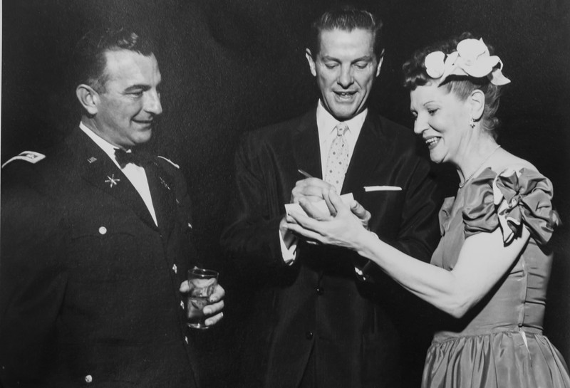Mom and dad with Robert Cummings circa 1950