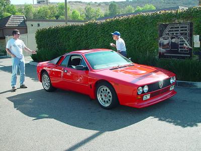 Les and Al with Al's Lancia 037 Rally