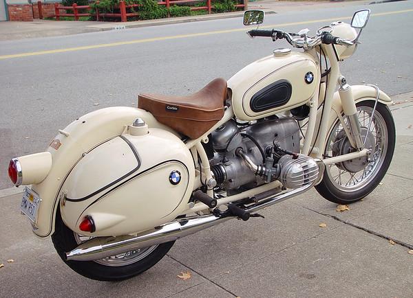 '59 BMW R50 w period bags