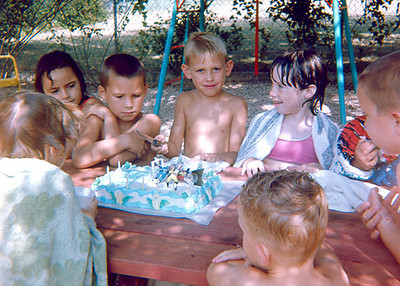 Six year old's birthday party, 1966