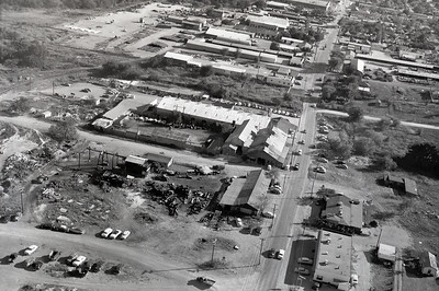 Aerial View: Fort Worth 1950. Looking South above Vickery Blvd.