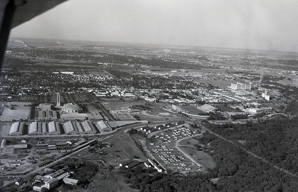 Aerial View: Fort Worth 1950 - Cattlebarns