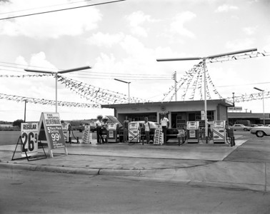 New gas station, Fort Worth, Texas 1964