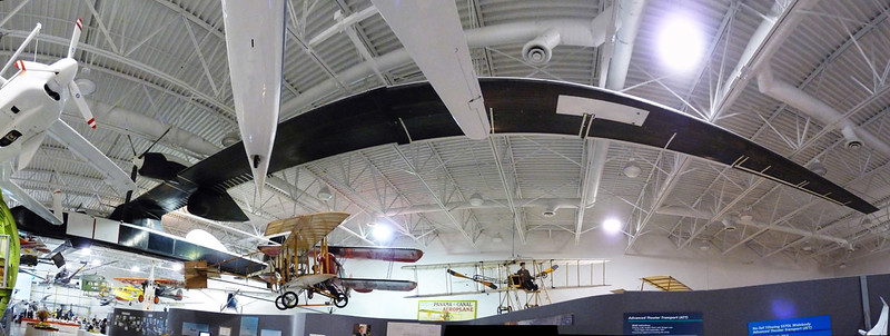 Wide panorama showing the Condor's huge wingspan