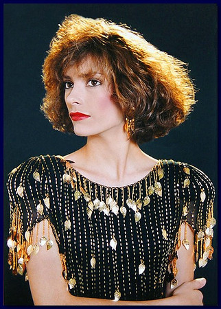 Model on dark background, 1986