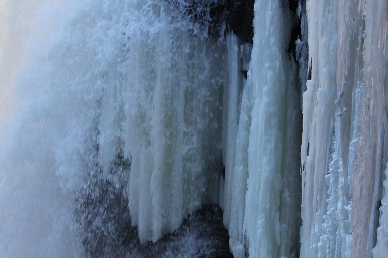Burgess Falls SP - icy closeup.