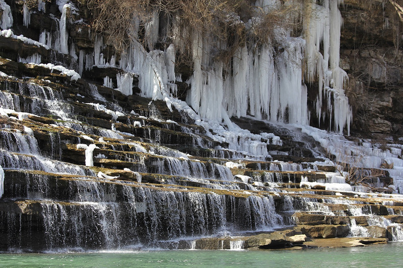 Twin Falls at Rock Island SP - icy steps.