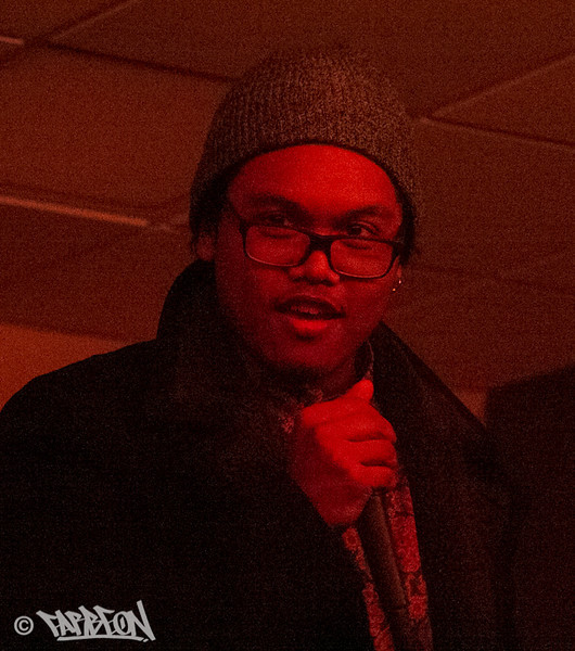 NYCBeatbox at opening night poetry open mic.