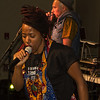Sarina and Bocafloja at 2014 Trinity International Hip Hop Festival.