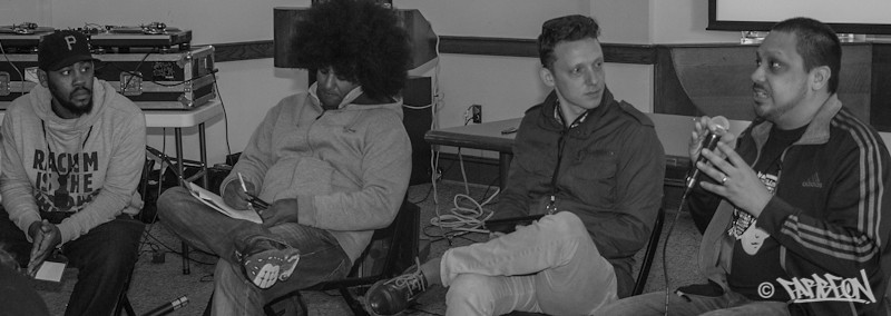 Hired Gun, Emile YX?, Ben Herson and Farbeon - Panel Discussion: Hip Hop and Youth Empowerment .