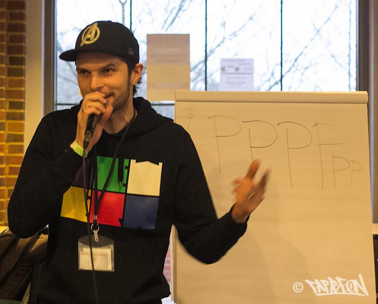 Jaro Cossiga beatbox workshop.