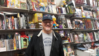 Here I am at Jerry Comics and Collectibles.