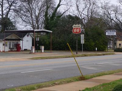 Billy Carter's Service Station.