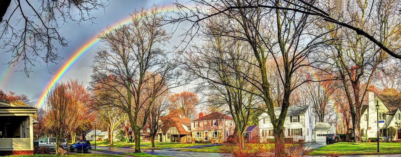 Rainbow over Hillside Ave 2016-1-10
