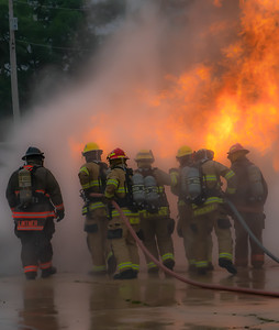 AARON BECKMAN/NORFOLK FIRE  2018-08-23   State Fire Marshal Propane Training  Norfolk Fire Training Tower
