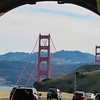 View from the tunnel - Golden Gate Bridge