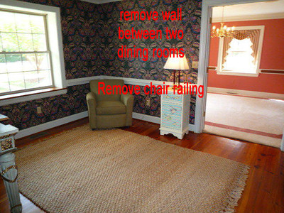 a remove wall between two dining rooms completely