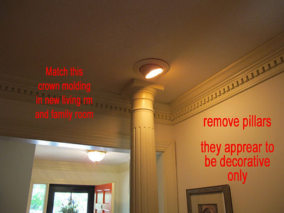 a remove pillars  use this crown molding