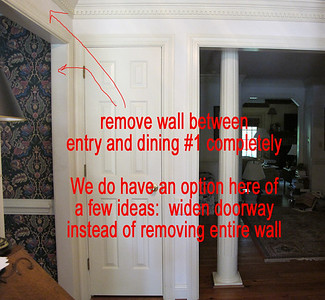 a remove wall between entry and dining 1